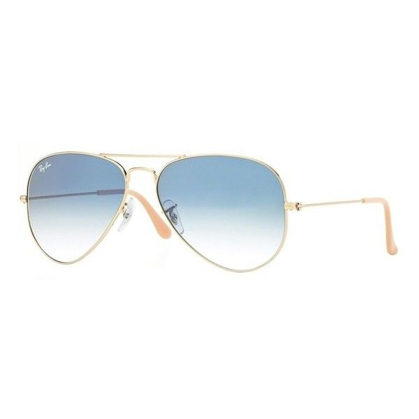 Ray-Ban AVIATOR LARGE METAL RB 3025 Ray-Ban ($135) ❤ liked on Polyvore featuring accessories, eyewear, sunglasses, metal-frame sunglasses, ray ban sunglasses, ray ban glasses, aviator style glasses and ray ban eyewear