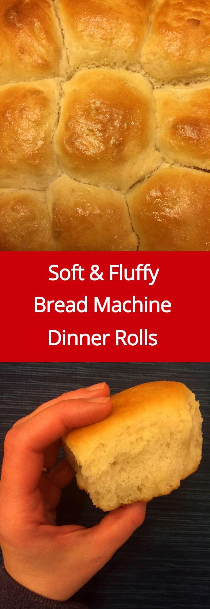 Easy Soft Bread Machine Dinner Rolls Recipe