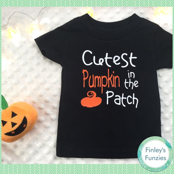 Halloween Baby, toddler shirt Cutest pumpkin in the patch by FinleysFunzies on Etsy