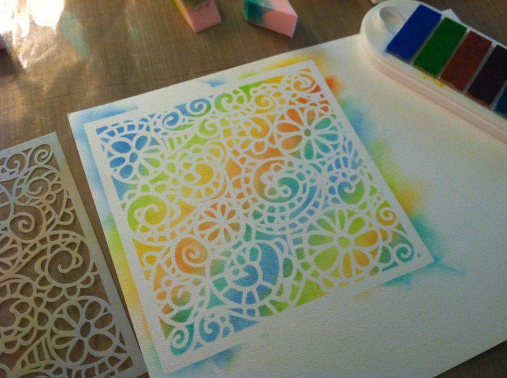 Kaleidacolor Ink Pad Tutorial w/ No Brayer - Create Serendipity