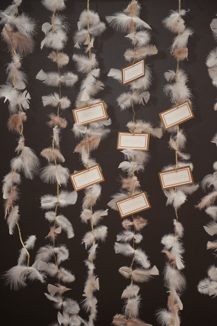 #Escort Cards - #Feathers