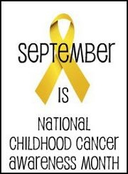September is childhood cancer awareness month! Spread the word! A gold ribbon represents childhood cancer awareness!