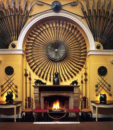 Armoury Hall Fireplace. Inveraray Castle, Argyll, Scotland.