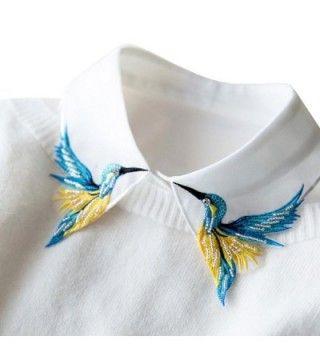 Shinywear Embroidered Collar Detachable British