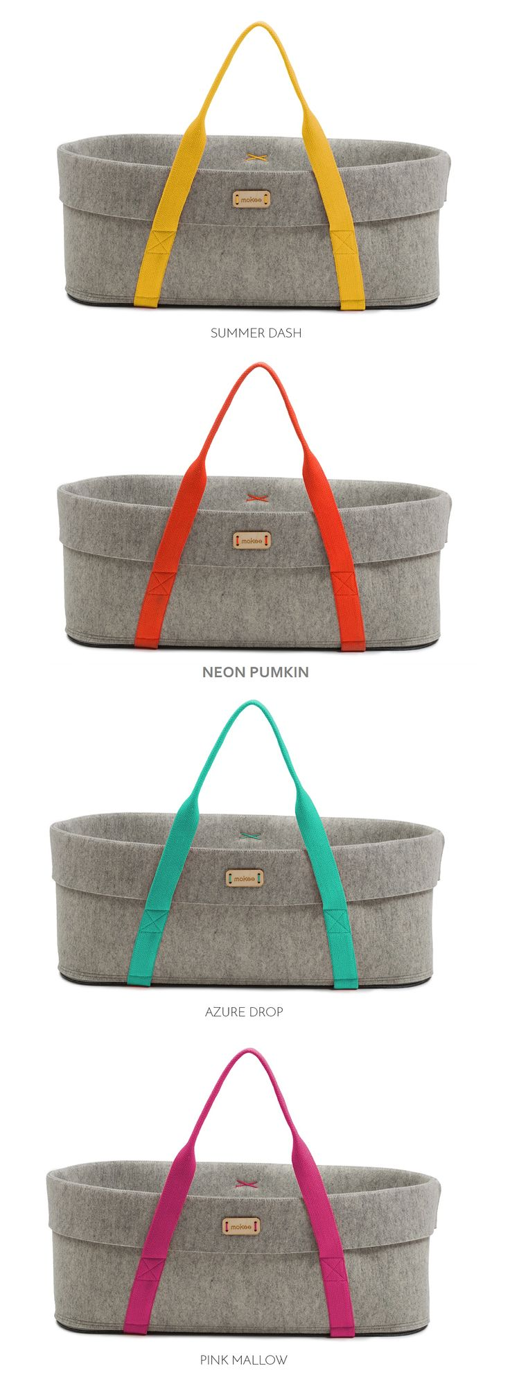 All WoolNest's colours. Choose your favourite. Moses Basket by moKee #mosesbasket