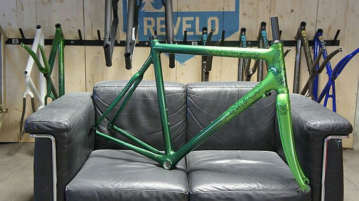 REVELO Carbon Rennrad Rahmen + Gabel Art Decor Edition Sz. L