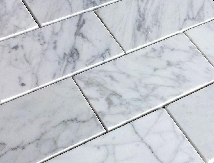 x bianco white carrara marble subway tile honed - White Carrara Marble