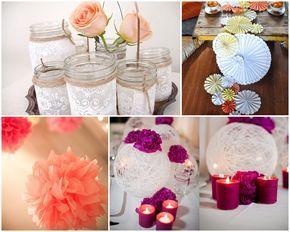 esküvői asztaldíszek házilag - Google keresés