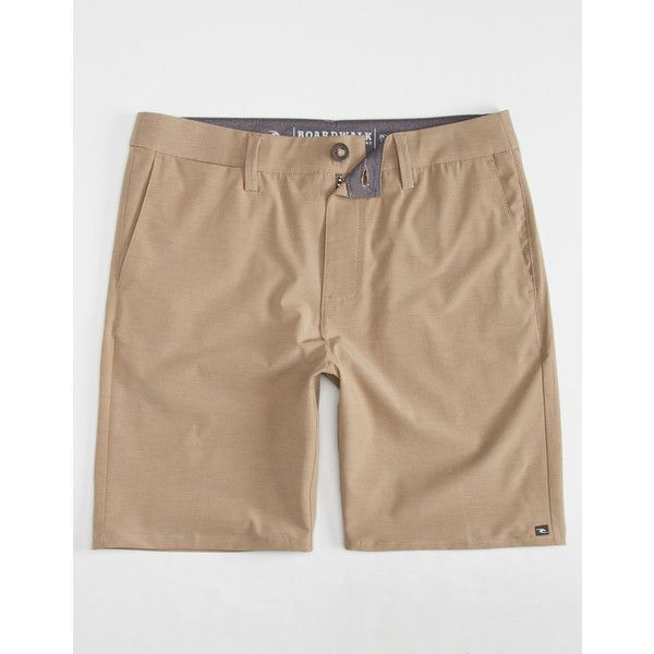Rip Curl Gates Boardwalk Mens Hybrid Shorts ($40) ❤ liked on Polyvore featuring men's fashion, men's clothing, men's shorts, khaki, mens khaki shorts, mens shorts, men's apparel and mens clothing