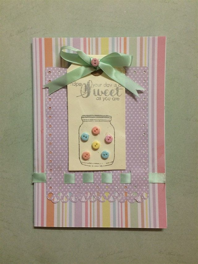 Card Making Ideas With Ribbon Part - 49: Sweet Card | Docrafts.com Sweet Themed Pastel Card Made Using Spellbinders  Ribbon Threader Die