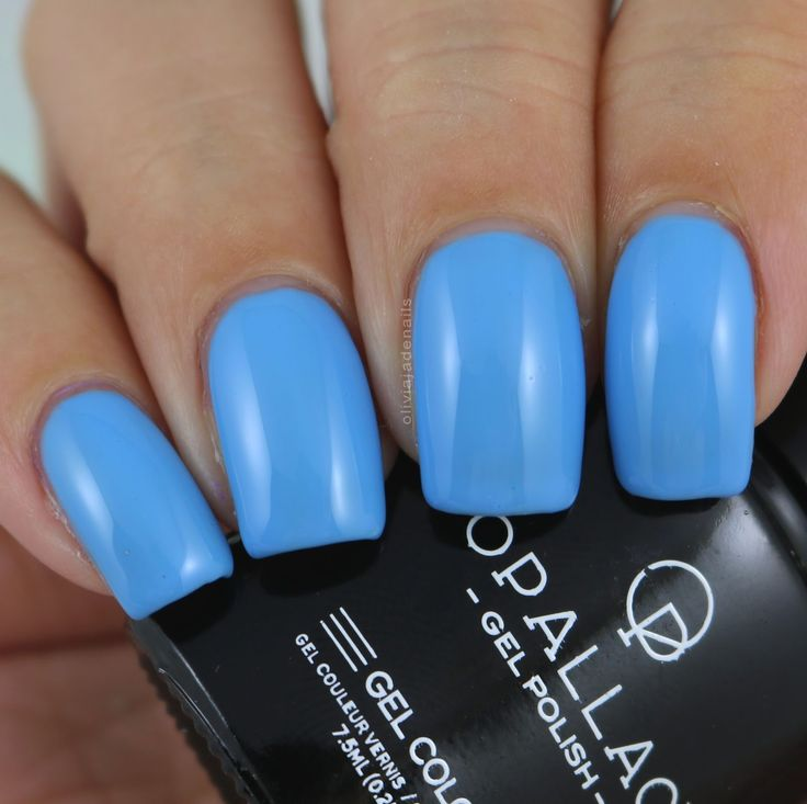 Opallac Gel Polish True Blue swatched by Olivia Jade Nails