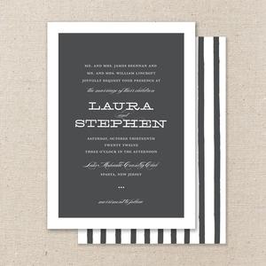 Rustic yet elegant wedding invitation