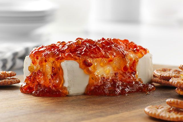 Got red pepper jelly, cream cheese and a smidge of cilantro? Then you've got an easy 5-minute appetizer. Oh, and grab the crackers, too.