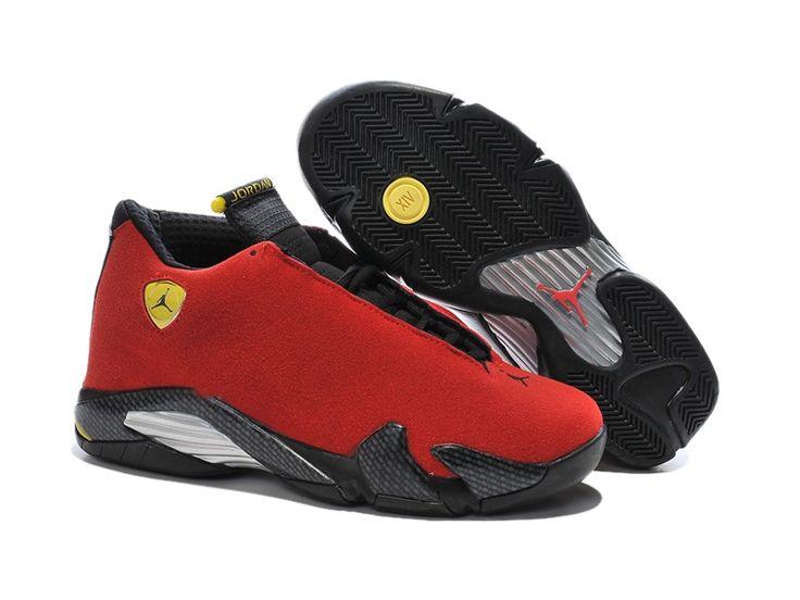 "Air Jordan 14 ""ferrari"" Chilling Red/black Vibrant Yellow For  – My Likes"