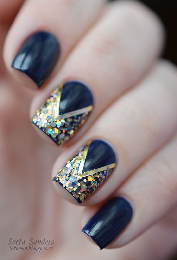 Blue and Glitter!