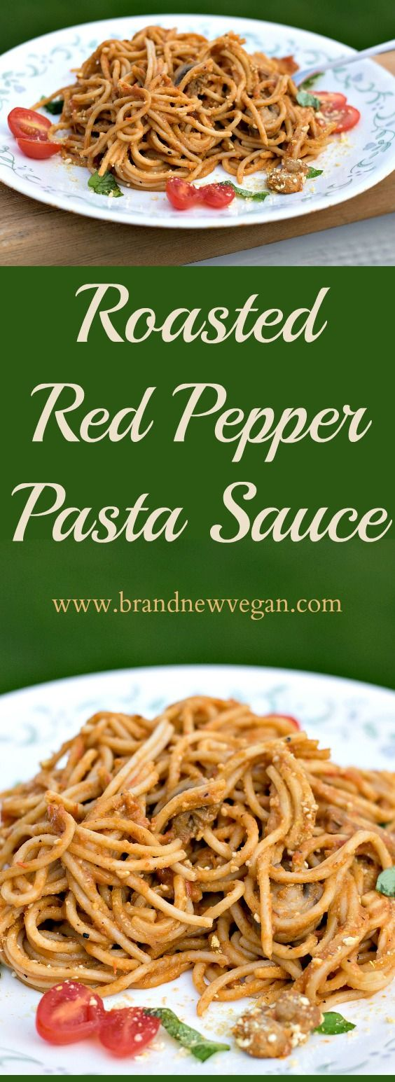 I finally tried Brown Rice Pasta last night, and it was REALLY GOOD! Especially smothered in this easy to make Roasted Red Pepper Pasta Sauce.