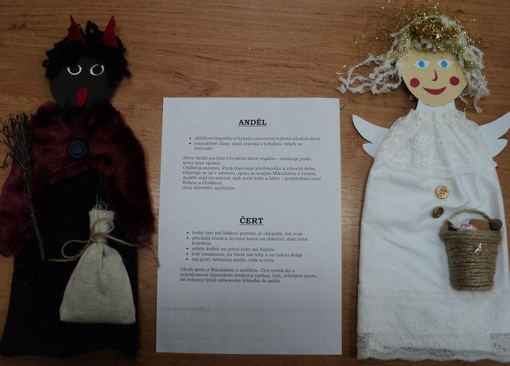 Postavy adventu a Vánoc - Čert - Anděl