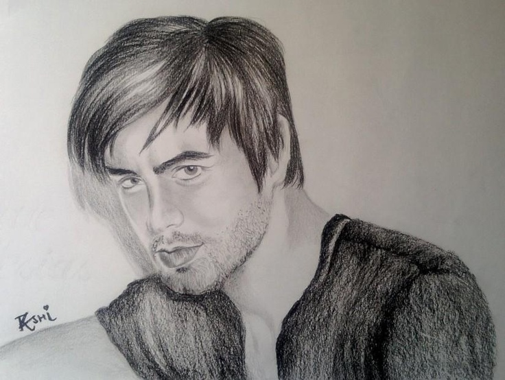 My hero ^_^ ( ENRIQUE IGLESIAS) - Sketching by rashi sagar in  SKETCHES by Me:) at touchtalent