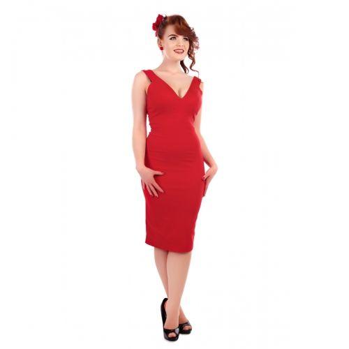 Collectif Mel_Pencil_Dress_Red
