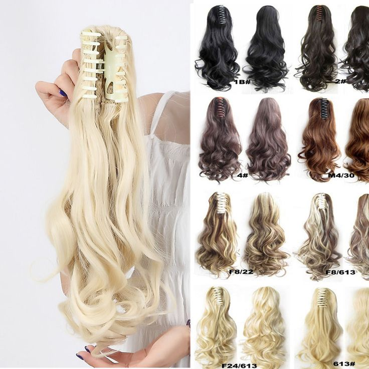 23 best hair extensions images on pinterest hair pieces clip in 100 new clip in hair extension curly straight black claw ponytail hair piece s0 ebay pmusecretfo Choice Image