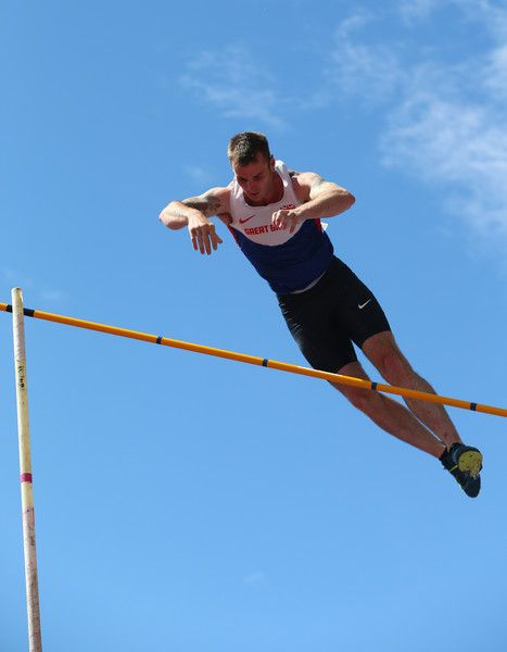 Luke Cutts Photos Photos - Luke Cutts of Sheffield in action during the men's pole vault final during day three of the Sainsbury's British Championships at Birmingham Alexander Stadium on July 5, 2015 in Birmingham, England. - Sainsbury's British Championships Birmingham: Day Three
