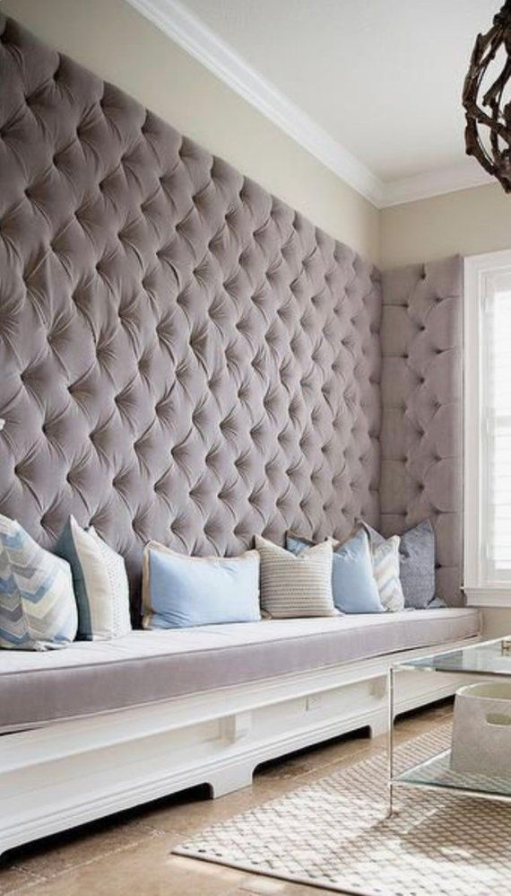 Wall Panels Custom Upholstered Tufted Banquette Channel Any Size