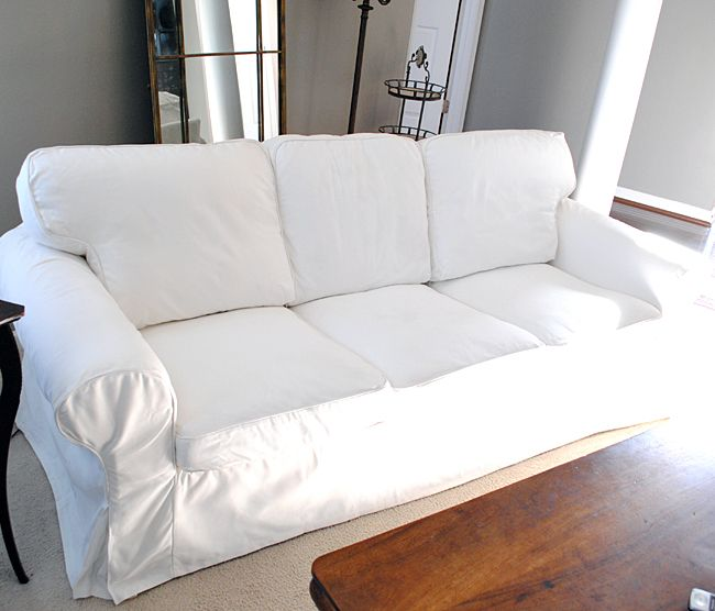 How to easily remove wrinkles from ikea slipcovers ikea for Ikea free couch giveaway