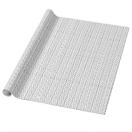 #Stockinette Stitch wrapping paper - #knitting #gifts