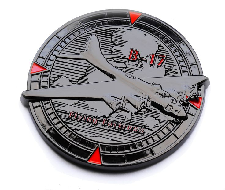 Black nickel - donor version of Flying Fortress Geocoin www.geocoin4you.com