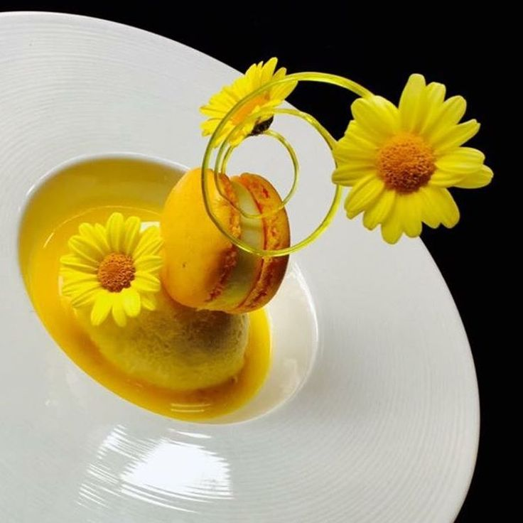 271 mentions J'aime, 8 commentaires – Marco Tola Chef (@marco_tola_chef) sur Instagram : «Mango cheesecake,mango macaroon, spiral of isomalt, mango coulis, edible flower........Feeling…»