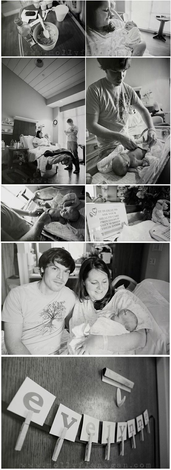 Cute newborn hospital pictures!!!