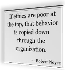 ... away from bad business ethics when you are involved with outsourcing