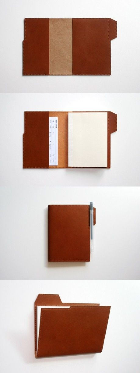 Leather folder shell, or could bind books with folder tabs.  Gets me thinking!!!!