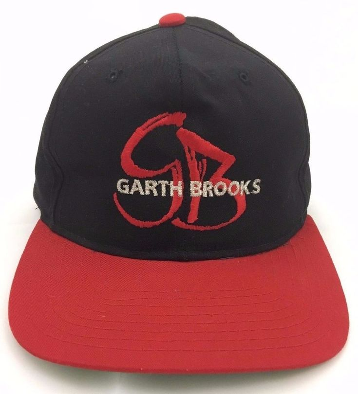 Garth Brooks You Gotta Believe Tour Snapback Hat Cap Black Country Music 1990s #Yupoong #BaseballCap