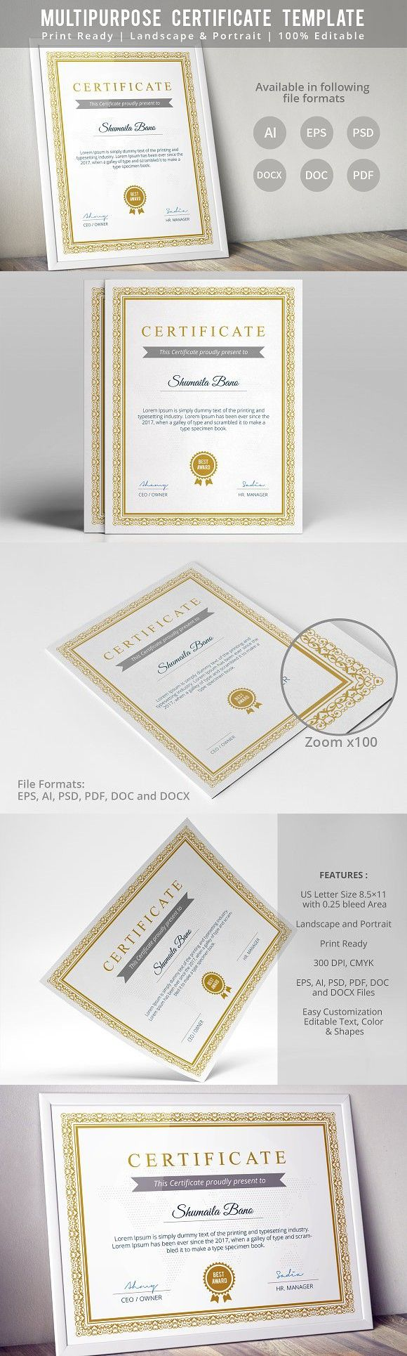 Diploma Certificate Template. Stationery Templates