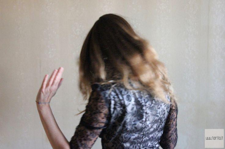 "Tarita FW13/14. Tarita ""Numero UNO"" Collection. Black lace and wool dress."