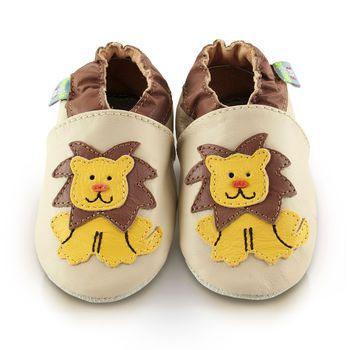 Lion Soft Leather Baby Shoes - they come in other animal versions too