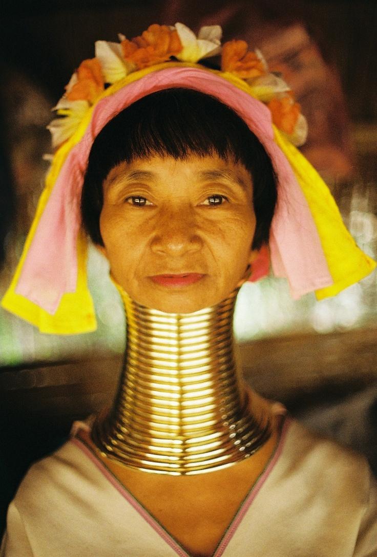 Asian girls with long necks