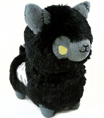 Black Zombie Alpaca! His stare goes right through to your soul! He is now chillin' with his girlfriend Purple Zombie alpaca on my Dresser ;)