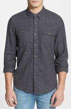 Topman Melange Cotton Flannel Shirt gifters.com flannel shirts for men