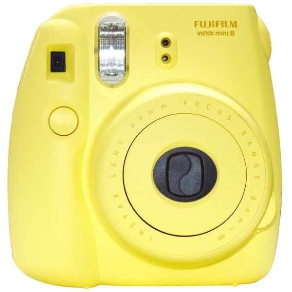 New Model Fuji Instax 8 Color Yellow Fujifilm Instax Mini 8 Instant Camera featuring polyvore, camera, fillers, electronics, accessories and tech