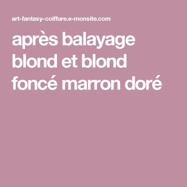 après balayage blond et blond foncé marron doré