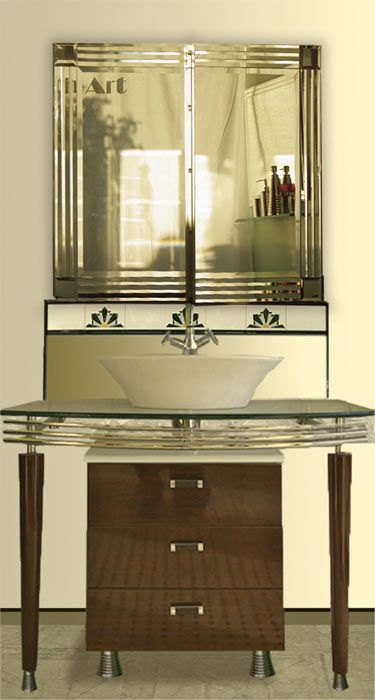 316 best images about small bathroom on pinterest art for Small art deco bathroom ideas