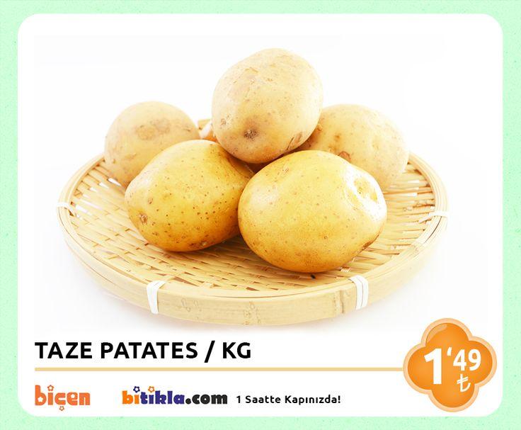 #Manav Reyonumuzda Bugün; #Patates KG 1,49₺ Ayrıca #Bitıkla http://www.bitikla.com/ 'la 1 Saatte kapınızda.