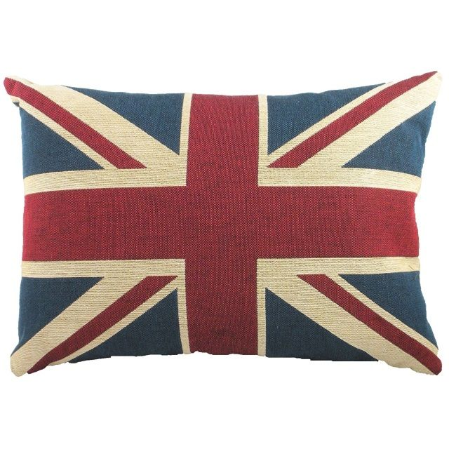 Union Jack Filled Cushion by Evans Lichfield