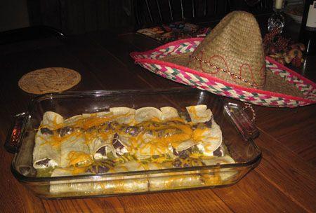 Enchiladas aux haricots noirs et poulet