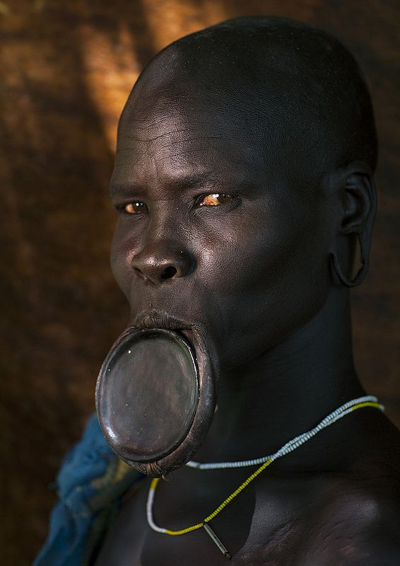 Mursi Tribe Woman With Lip Plate, Chaidu, Omo Valley, Ethiopia