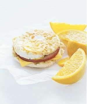 Egg McMuffin | Yes, you read that right. If you must eat fast food in the morning, get an Egg McMuffin at McDonald's. At 300 calories, it's not an outrageous meal. Plus it has a good amount of lean protein from the egg and the Canadian bacon. To trim empty calories, remove the top half of the muffin. For additional fiber, add a fresh orange.