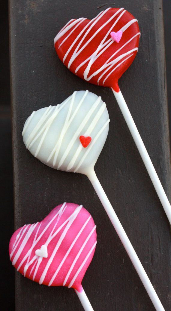 Heart Cake Pops by sweetpopsshop.  These came to me today and I LOVE them!