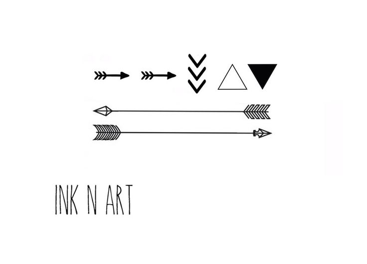 7pcs Set Triangle Chevron Arrow tattoo - InknArt Temporary Tattoo Set -  gift pack tattoo collection quote wrist neck ankle body by InknArt on Etsy https://www.etsy.com/listing/193772224/7pcs-set-triangle-chevron-arrow-tattoo